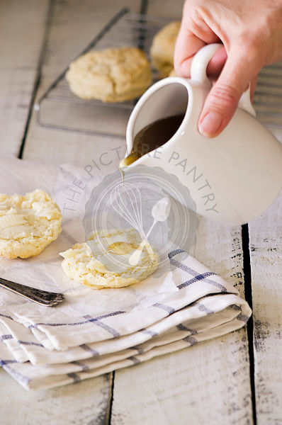 Buttermilk Biscuits with Honey