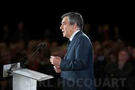 Francois Fillon speaks during his meeting at Charleville-Mézières, France, on February 2, 2017.