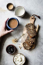 Banana Bread, Tea, and Jam