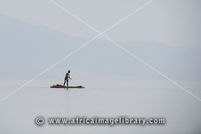 Fisherman on Lake Chamo, Nechisar National Park, Ethiopia