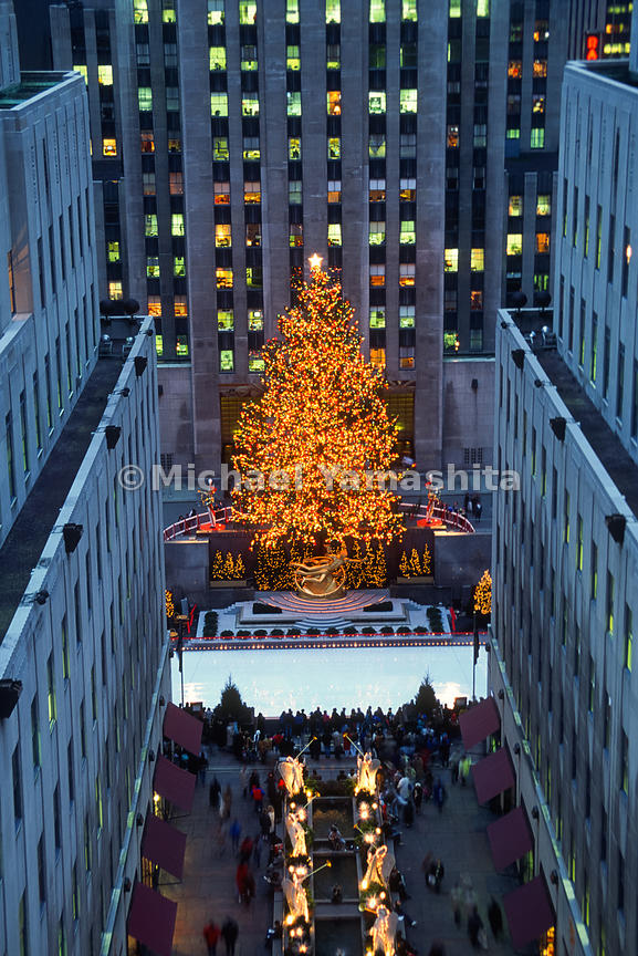 Christmas in New York.Rockefeller Center .New York City, NY