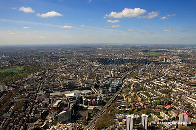 aerial photograph of Paddington London England UK