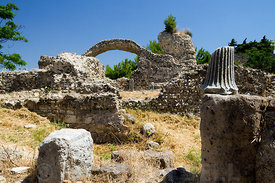The Western Archaeological Zone, Kos Town, Kos Island, Dodecanese Islands, Greece.