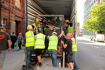 Men Unloading Truck outside Kings Theatre Glasgow