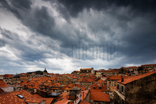 Ominous Skies over Dubrovnik
