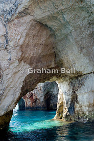 the blue caves, skinari, zakynthos/zante, ionian islands, greece.