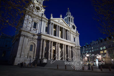 St Paul's Cathedral at night - London, United Kingdom