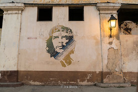 A mural of Che Guevara in the Old City, Havana, Cuba