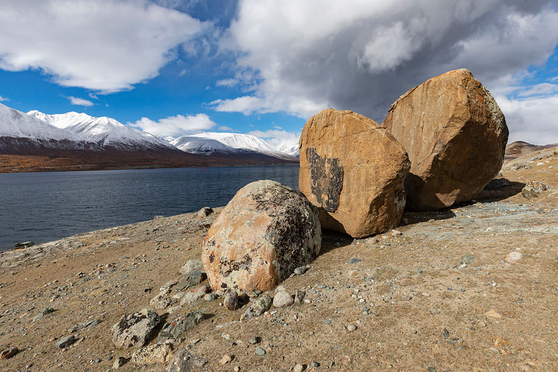 Boulders on the Shore of Khoton Lake