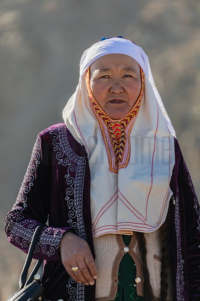 Portrait of Halima at the Golden Eagle Festival