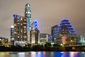 Austin Texas Skyine at Night Photo