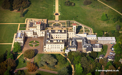 aerial photograph of Osborne House Isle of Wight England UK