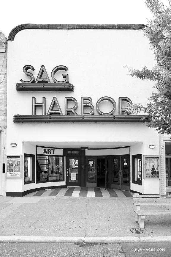 OLD SAG HARBOR MOVIE THEATER SAG HARBOR LONG ISLAND BLACK AND WHITE VERTICAL