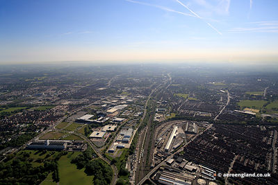 aerial photograph of Wavertree   and vicinity in   Liverpool  Merseyside England UK