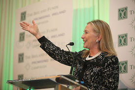 The Worldwide Ireland Funds today presented a Lifetime Achievement Award to The United States Secretary of State, Hillary Clinton