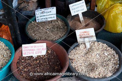 Zulu herbalist market, Victoria Street Market, Durban, South Africa