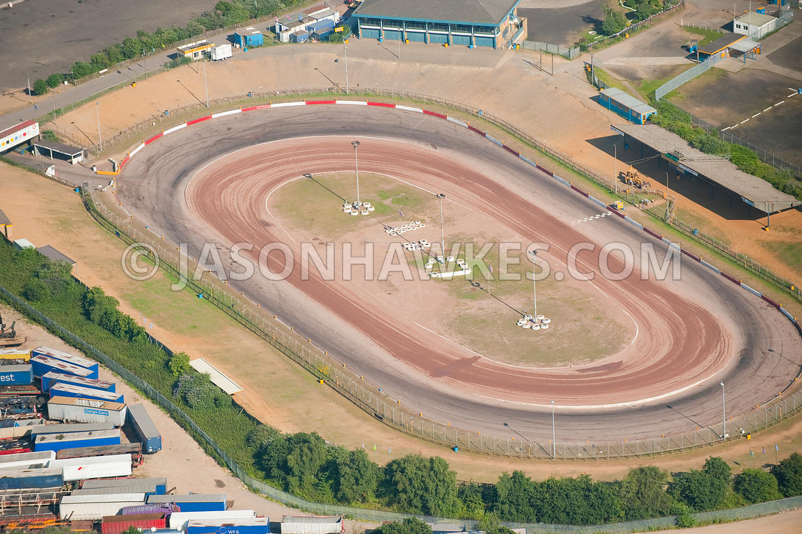 Aerial View. Arena Essex Raceway , aerial view . Jason Hawkes