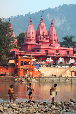 Ganga Temple at Birla Ghat on the Ganges River, Haridwar, India