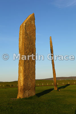 Standing Stones of Stenness at sunset, West Mainland, Orkney, United Kingdom