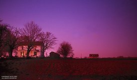 Orlinda, TN farm after sunset