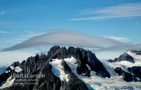 Wisps of Clouds Above the Mountains of Glacier Bay National Park, Alaska
