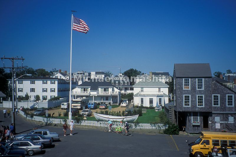 A beautiful day in town at Martha's Vineyard.