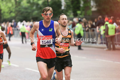 Aaron Burgess running in the London Marathon
