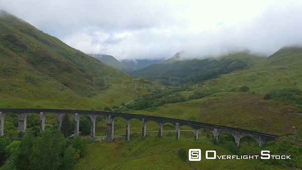 Glenfinnan Hogwarts Railway Bridge Drone Video Scotland
