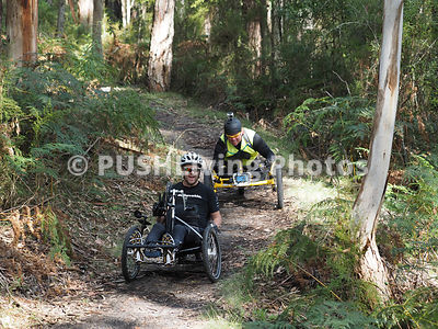 Handcycles at the Giant Odyssey  mountain bike marathon