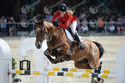 RIPKE Theresa, (GER), CALMADO during  competition at European Jumping Championship for Children, Juniors, Young riders at Lake Arena, Wiener Neustadt - Austria