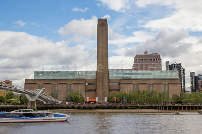 Tate Modern with it's new twisting Pyramid Tower