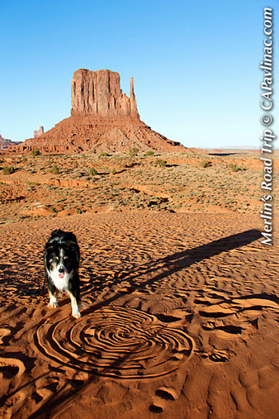 Merlin Sand Labyrinth at Monument Valley Mittens
