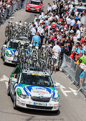 Saur-Sojansun Team's  Cars - Tour de France 2012