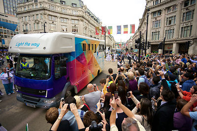 Paralympic Media Truck at Oxford Circus
