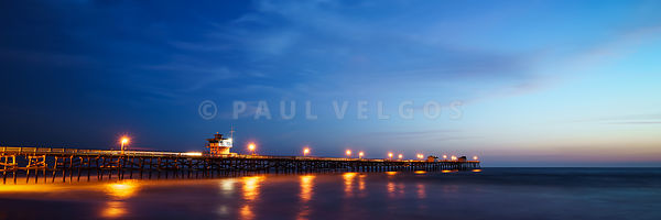 Panoramic Photo of San Clemente Pier at Sunset
