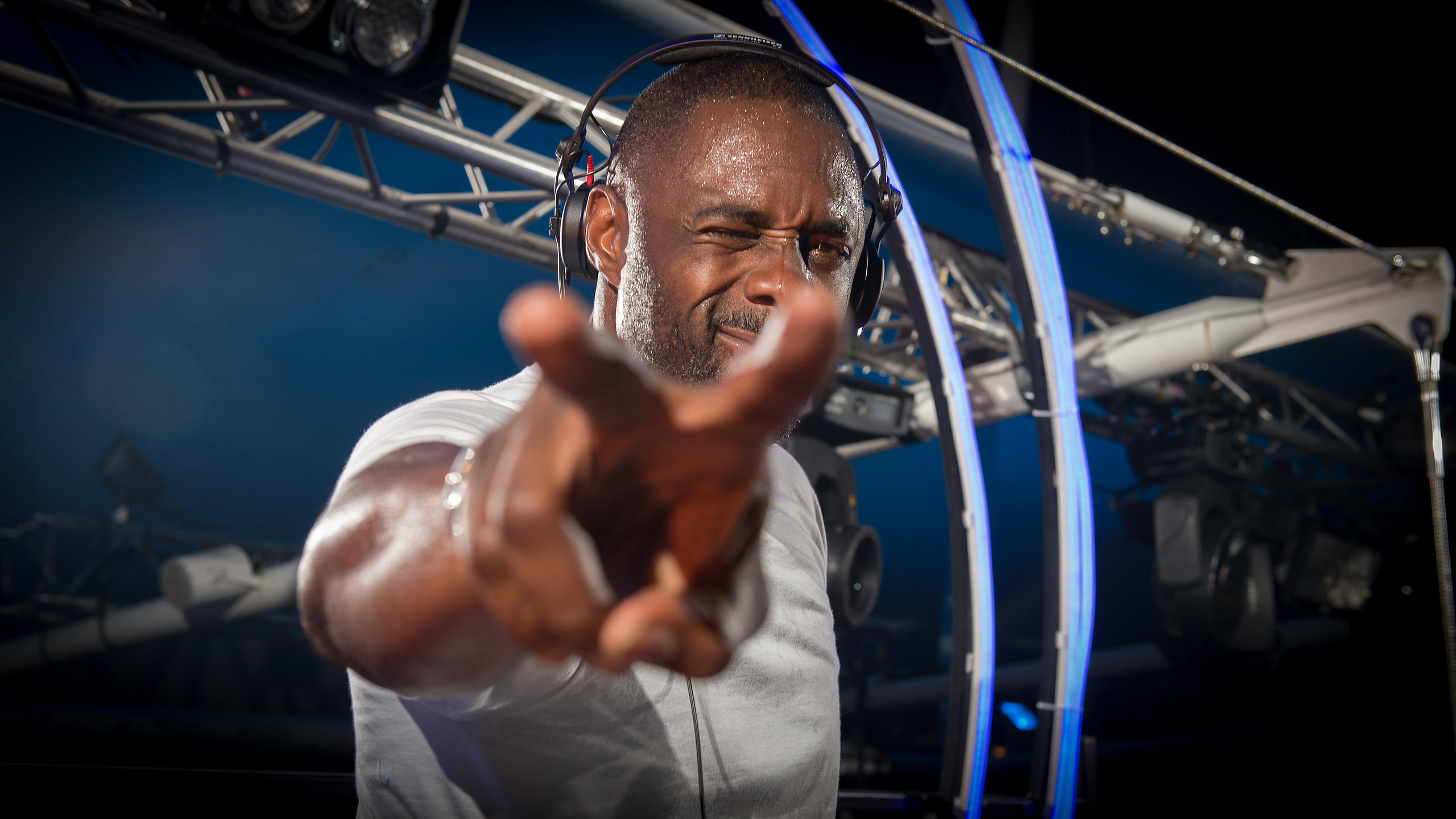 Idris Elba Rocking Goodwood at Three Friday Nights 2015