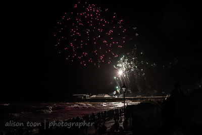 New Year's Day fireworks at Cromer Pier