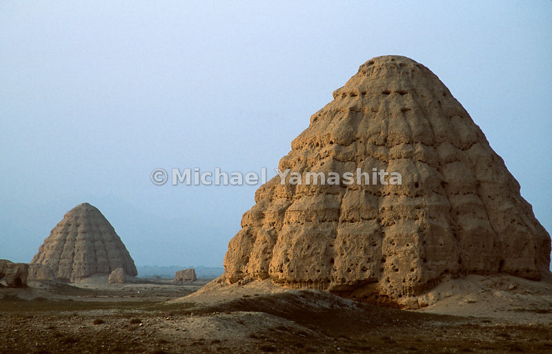 Western Xia Tombs outside of Yinchuan, Ningxia, China