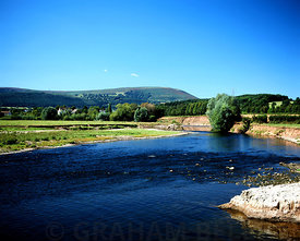 river usk from the usk valley walk the bryn near abergavenny monmouthshire south wales