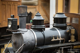 Domes and 3D Printed Headlamp on Model Locomotive