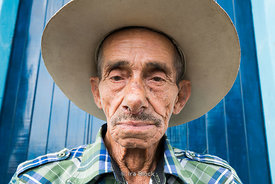 A portrait of a local man in the village of Bejucal, a municipality and town in the Mayabeque Province of Cuba.