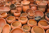 Ceramic pots for sale, Vume area, Ghana