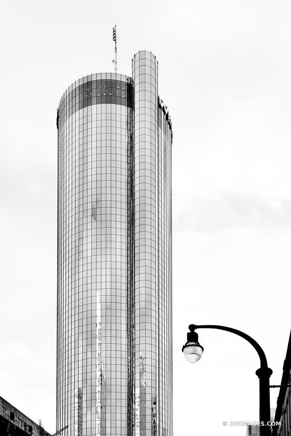 WESTIN PEACHTREE PLAZA HOTEL TOWER ATLANTA GEORGIA BLACK AND WHITE