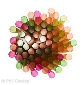 Abstract colorful circular tubes