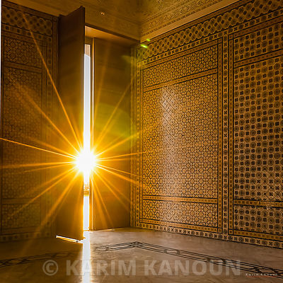 Sunshine inside Mosque Malik ibn Anas