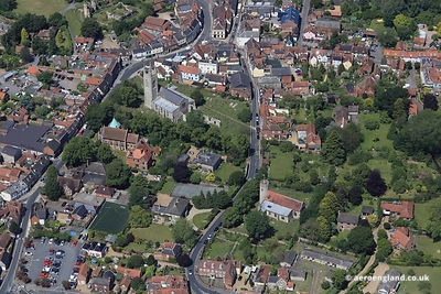 aerial photograph of Bungay   Suffolk England UK.