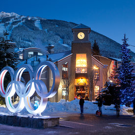 Whistler village winter photos