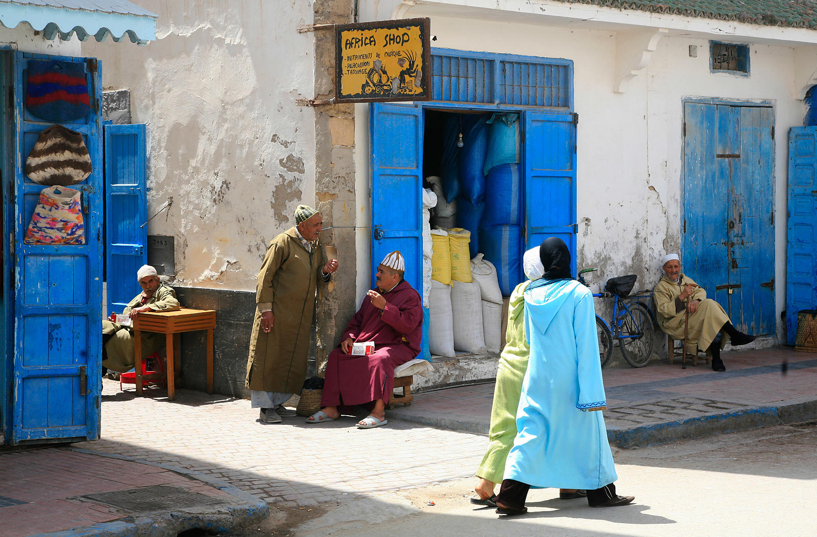BLUE STREET IN ESSAOUIRA