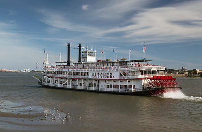 The Steamer Natchez on the River