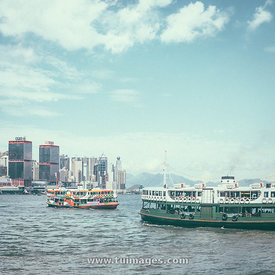 star ferry over victoria harbour